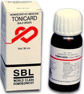 SBL Homeopathy Tonicard Gold Drops