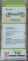 Homeopathic WormOff Tablets